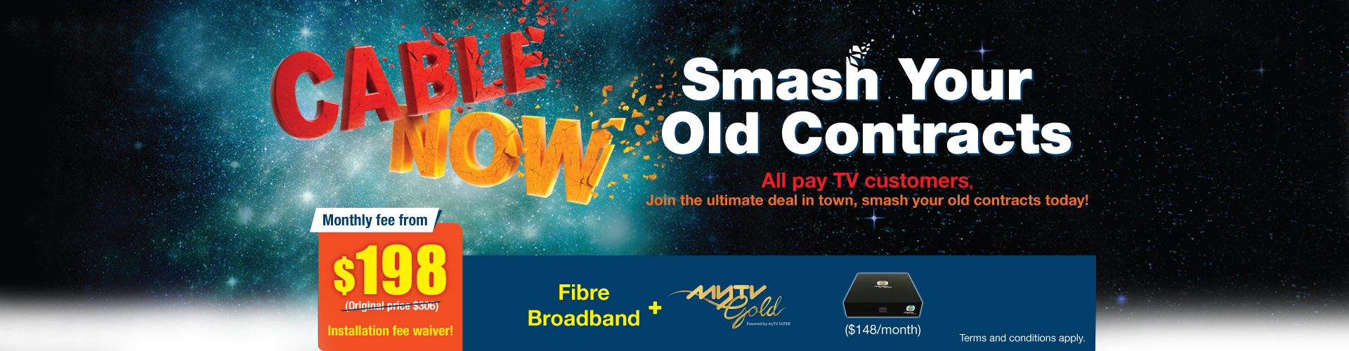 Exclusive offer for customers who switch over from i-Cable and Now TV